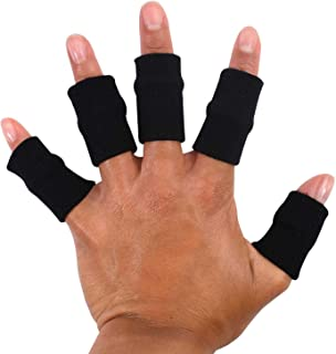 Best TRIXES 10x Finger Protector Sleeve Black, Arthritis Stretchy Support Sports Aid - Basketball Finger Guard Review