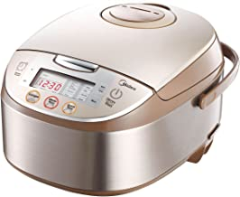 Midea Mb-fs5017 10 Cup Smart Multi-cooker/Rice Cooker/Maker & Steamer & Slow Cooker, Brushed Brown, 5Qt/875W