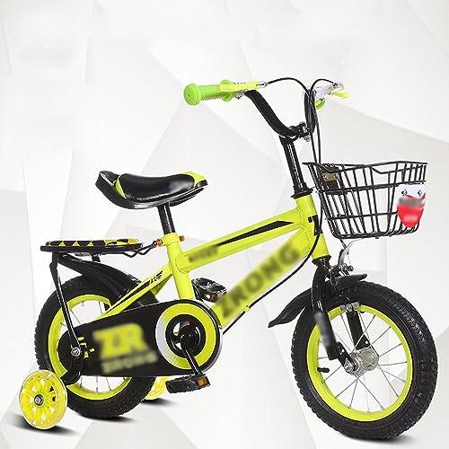 toma Bicicletas para Niños Feifei Carrito de bebé 12 14 14 14 16 18 20 Pulgadas Mountain Bike azul rojo amarillo Projoección de Seguridad (Color   amarillo, Tamaño   12 Pulgadas)  grandes ofertas
