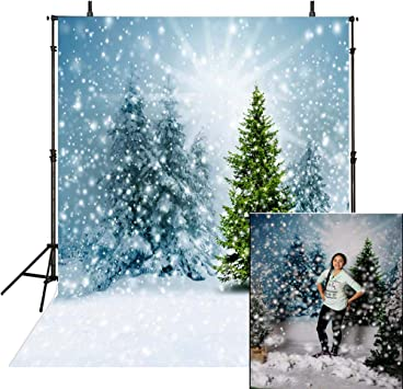 White Snow House Photography Backdrops Photo Props Studio Background 5x7ft