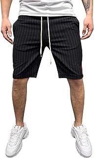 Men's Casual Classic Fit Cotton Elastic Jogger Gym Drawstring Shorts