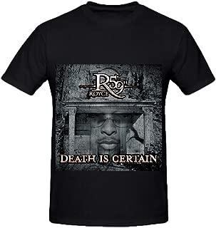 Royce Da 59 Death is Certain Soul Mens O Neck Printed Tee Shirts