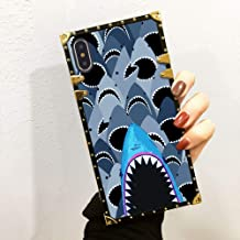 iPhone X, iPhone 10, iPhone Xs, iPhone X/10/Xs Case for Girls Women Glitter Luxury Cool Golden Shark Group Bumper Shockproof Protective Cover