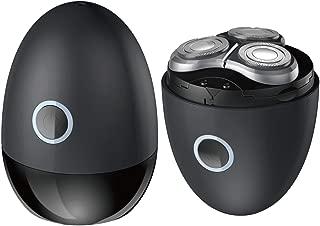 メンズ電気シェーバー ひげそり 電動かみそり 男性用 回転式 USB充電 水洗い可 コンパクト 旅行用·家庭用 ブラック