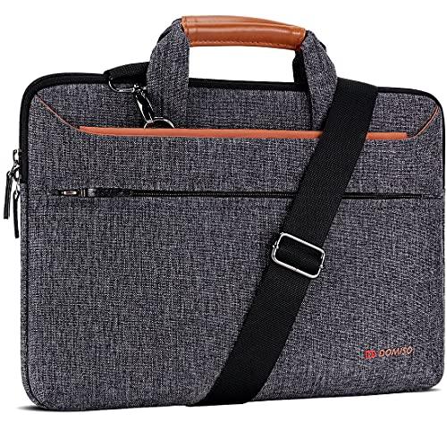 DOMISO 13,3 Pollici Borsa a Tracolla per Laptop Impermeabile Cartella Borsa Porta PC con Manico per 13' MacBook Air A1466/MacBook PRO Retina A1502 A1425/13.5' Surface Book/13.3' ThinkPad L380,Marrone