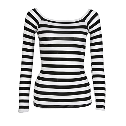 Black and White Stripe Top  Amazon.co.uk a9a598924