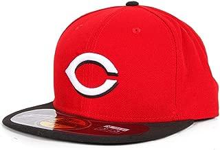 Mens New Era MLB On Field Fitted Cap Cincinnati Reds Road 7.875