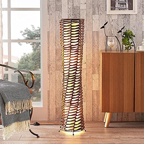 Lindby Stehlampe 'Joas' (Modern) in Braun aus Papier u.a. für Wohnzimmer & Esszimmer (2 flammig, E27, A++) - Stehleuchte, Standleuchte, Floor Lamp, Wohnzimmerlampe, Wohnzimmerlampe