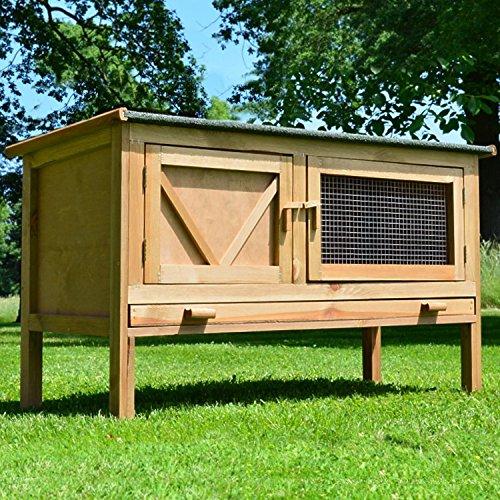 """ZooPrimus Kleintier-Stall Nr 24 Kaninchen-Käfig """"HASI"""" Meerschweinchen-Haus für Außenbereich (Geeignet für Kleintiere: Hasen, Kaninchen, Meerschweinchen usw.)"""