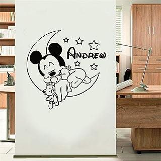 Dekoration Wandsticker Wandaufkleber Micky Maus Sterne Stars
