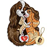 DEPLEE Wooden Puzzle Jigsaw, Beagle Puzzle Toy Artwork, Animal Unique Shape Creative, Best Challenge Game for Adults, Kids, Family and Friend| 100-120 Pieces|8.9-6.3 in - Small