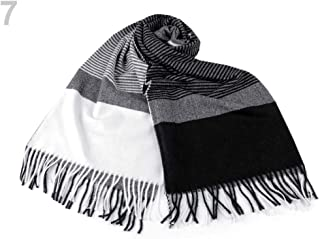 1pc Black Grey Scarf/Shawl with Fringes, Winter Shawls and Snoods, Shawls, Scarves &, Fashion Accessories