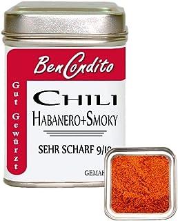 Smokey Habanero Chili - sehr scharfes Habanero Chilipulver mit geräucherten Paprikapulver 80 Gramm