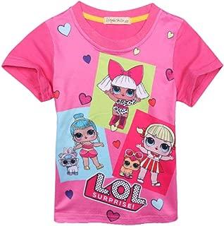 LOL Surprise Tshirt Bambina Colore Nero Maniche Corte Taglie 6-7-8-9-10-12 Anni
