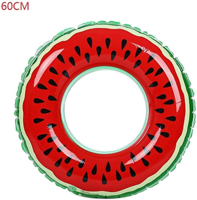 Kaimu Watermelon Inflatable Swim Ring HeatResistant Reusable Swimming Float Swim Rings