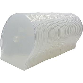 C-Shell - Estuche de almacenamiento para CD, DVD y Blu-Ray (50 unidades), color transparente: Amazon.es: Electrónica