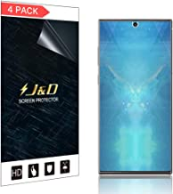 J&D Compatible for 4-Pack Galaxy Note 10+/Galaxy Note 10+ 5G Screen Protector (Not Glass), Soft Skin [Full Coverage] HD Clear Screen Protector for Samsung Galaxy Note 10+ Screen Protector