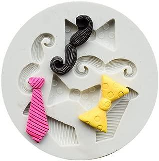 Runloo Mini Tie Bow Candy Chocolate Silicone Mold Beard Fondant Cake mould