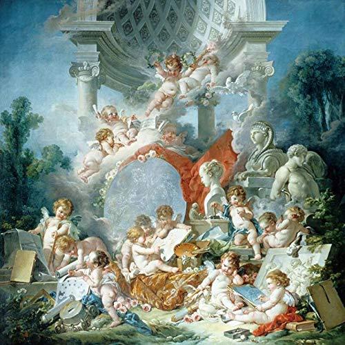 Papel tapiz mural de ángel de estilo europeo, efecto de pintura al óleo 3D, murales de pared personalizados, sala de estar, sofá, telón de fondo, papel tapiz fotográfico