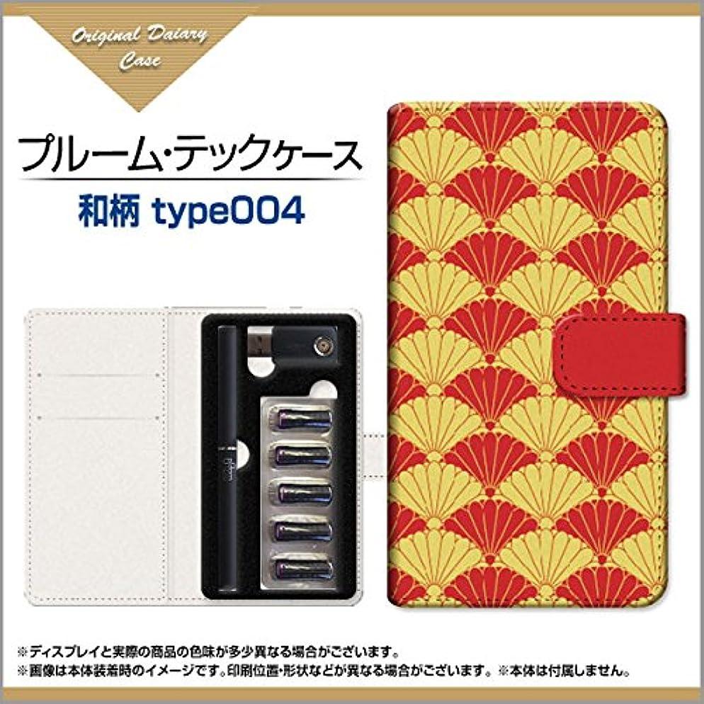 深さブローペリスコープPloom TECH ケース プルームテック収納用 手帳型カバー 手帳型ケース 和柄type004