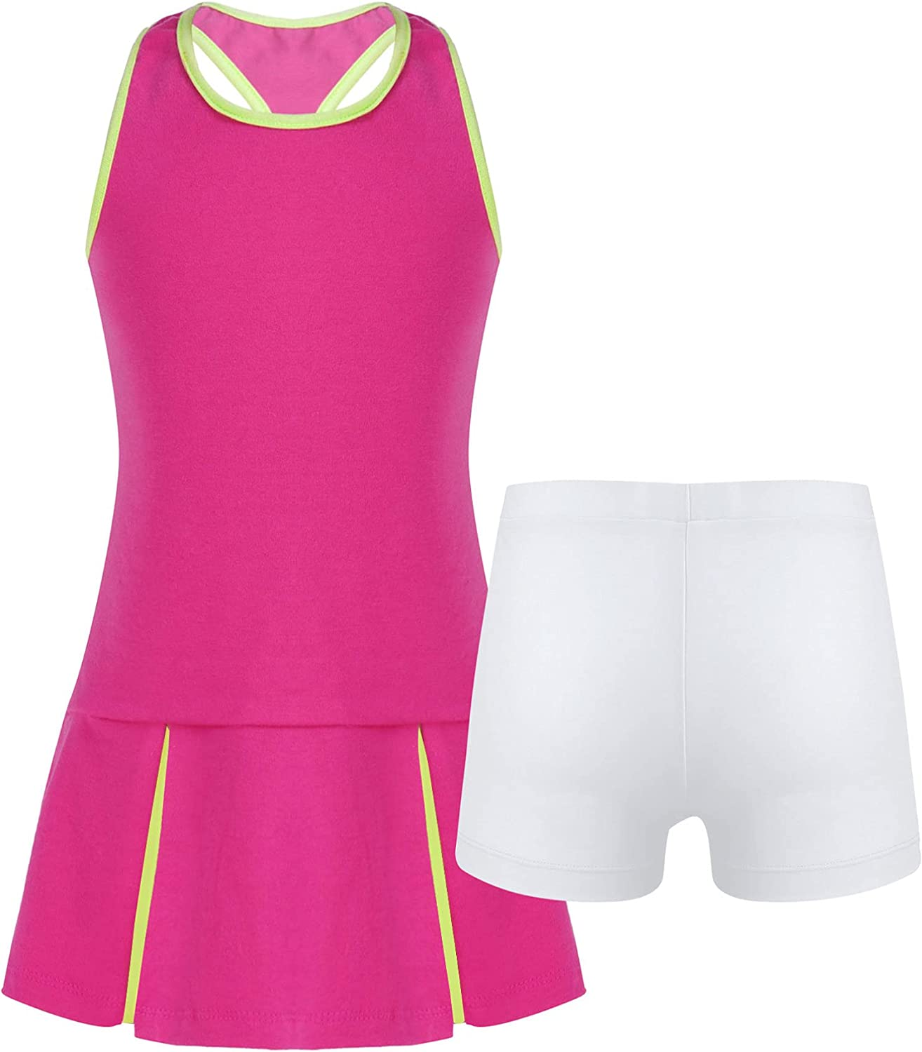 TiaoBug Youth Girls Tennis Ultra-Cheap Deals Dress with Shorts Outfits Max 67% OFF Underpants