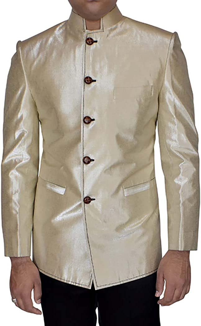 New item INMONARCH Mens Beige Don't miss the campaign Band Collar for Partywear TX10002R Blazer