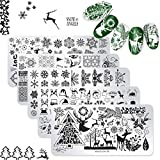 DANNEASY 6Pcs Christmas Nail Stamping Plate...