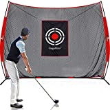 Gagalileo Golf Practice Net 10X8Feet Golf Hitting Nets Driving Range Indoor Outdoor Golf Training Aids with Target Carry Bag
