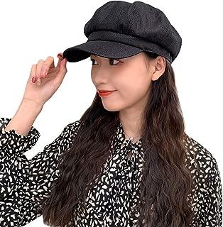 Women Washed Denim Newsboy Cap Flat Cap Stylish Beret Bakerboy Visor Cabbie 8 Panel Ladies Paper Boy Hat for Women …