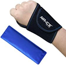 Wrist Gel Ice Pack Neoprene Wrap for Hot Cold Reusable Therapy, Great for Carpal Tunnel, Sprains, Joint Pain, Swelling, Tendinitis, Arthritis, Sports Injuries - Left/Right Hand