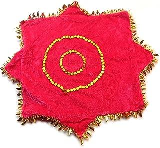 Chinese Dancing Velvet Handkerchief Hanky Dance Accessory (Pink)