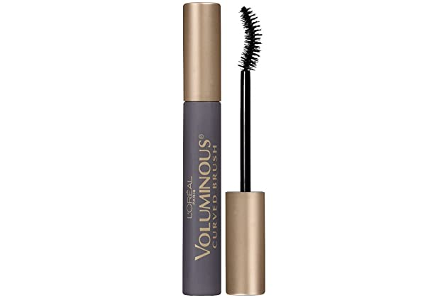 667d99db64d L'Oreal Paris Makeup Voluminous Original Volume Building Curved Brush  Mascara, Black Brown, 0.28 fl. oz.