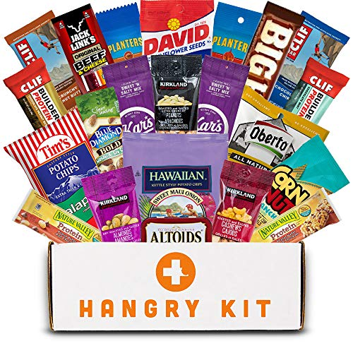 MEGA MAN HANGRY KIT - Gift for Men - College Care Package - Full Of What Men Crave - Nuts, Meat, Protein, and All Other Types of Snacks (22 Items)