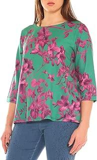 Camicia Donna Blusa Camicia Blusa Camicia pescatori lungo camicia FLOWER 40 42 44 ITALY
