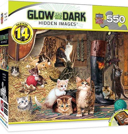 MasterPieces Glow-in-The-Dark Hidden Image Watchful Eye Jigsaw Puzzle, 500-Piece