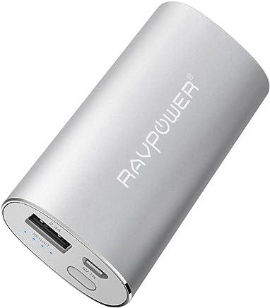 RAVPower Batterie Externe Universel 6700mAh Métallique (Sortie USB iSmart 2.4A & Entrée 2A) - Argent