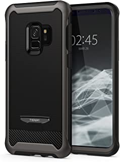 Spigen Reventon designed for Samsung Galaxy S9 case/cover - Gunmetal - Full 360 protection with Glas.tR Curved Glass Scree...