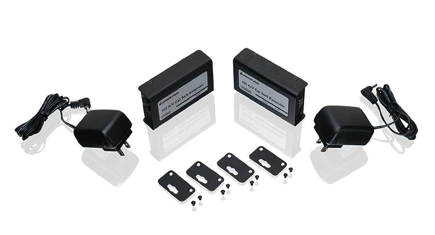 まばたき何か細分化するIOGEAR HD Audio/Video CAT5e/6 Extender - Black (GVE320) [並行輸入品]