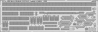 Eduard Photoetch 1:350 - Hms Queen Elizabeth 1943 - Railing & Ladders (tru05324)