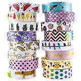 Aloha Washi Tape Set 16 Rolls of Decorative Masking Tape for...