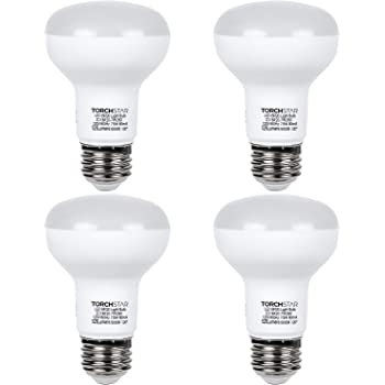 Pack of 4 50W Incandescent Equivalent 3 Years Warranty 7.5W UL /& Energy Star Listed 525 Lumens E26 Base 5000K Daylight TORCHSTAR Dimmable BR20 LED Flood Light Bulb