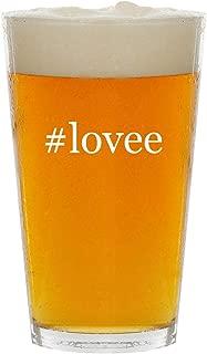 #lovee - Glass Hashtag 16oz Beer Pint