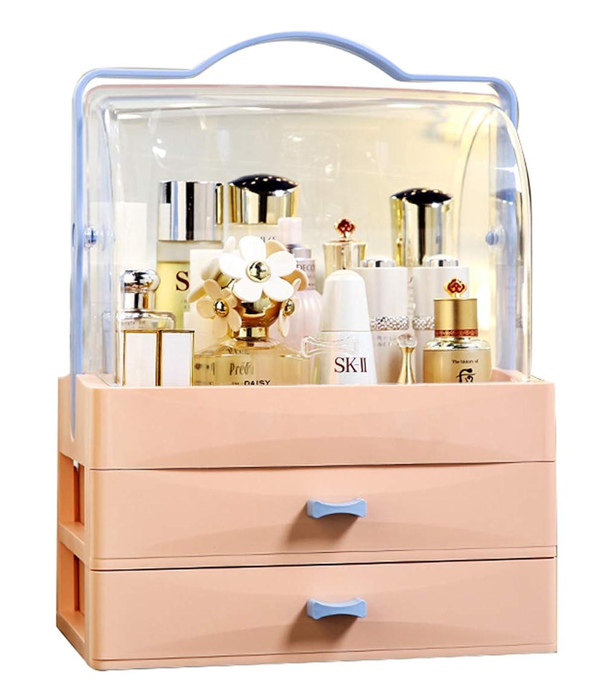 派生する驚シェルGOGOS コスメボックス 化粧品収納ボックス メイクケース 3段 大容量 持ち運び 引き出し透明 ふた付き クリア おしゃれ かわいい 人気