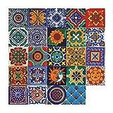 24 pegatinas de azulejos vintage marroquíes, autoadhesivas, de vinilo, para pared, decoración del...