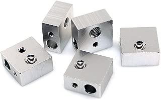 BIQU Aluminum Heater Block Specialized for MK7 MK8 3D Printer Extruder(Pack of 5pcs)