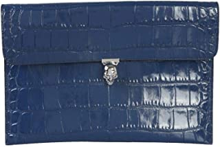 Luxury Fashion   Alexander Mcqueen Womens 5541971JM0I4015 Blue Clutch   Fall Winter 19