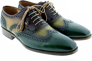 [Oscar William] Tree Toned Ernest Men's Luxury Classic Handmade Leather Shoes