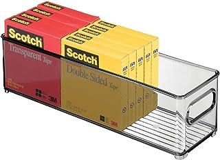 mDesign boite stockage à poignées intégrées en plastique – boite rangement pour la cuisine, la salle de bain ou la papeter...