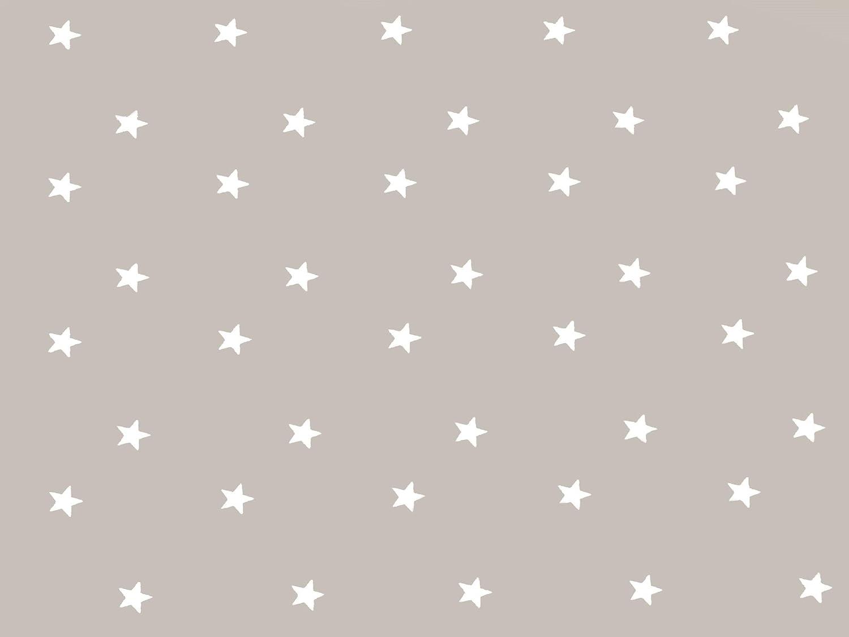 Home Direct Mantel de Hule, Rectangular 140 x 200cm Estrellas, Gris Beige