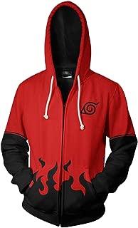 UU-Style Men's Naruto Kakashi Hokage Uzumaki Long Sleeve Jacket Cosplay Costume Jiraiya Hoodie Sweatshirt